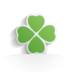four leaf clover icon paper vector image