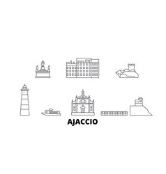 France ajaccio line travel skyline set france vector