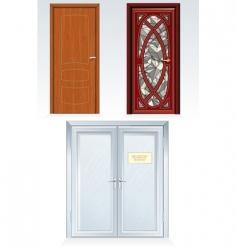 front doors vector image