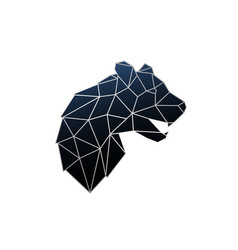 Geometric panther silver polygonal vector