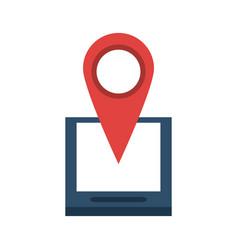 Gps location pin icon image vector