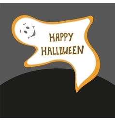 Happy Halloween card Scary ghost poster with vector
