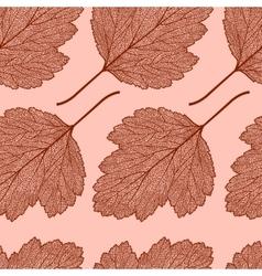 Hawthorn leaf skeleton pattern vector