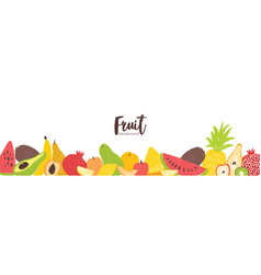 horizontal banner template with fresh organic vector image