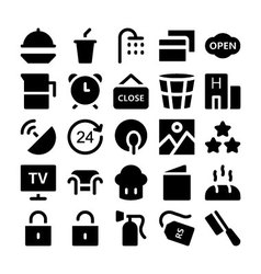 Hotel and Restaurant Icons 5 vector