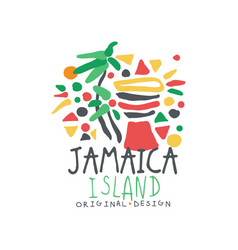 Jamaica island logo template original design vector