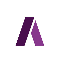 letter a icon logo vector image