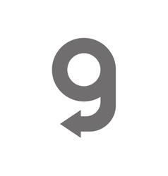 Letter g logo concept icon vector