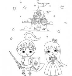 medieval fairytales vector image vector image