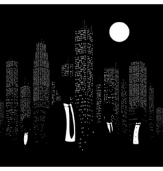 Men in suits on the background vector image