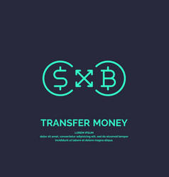 modern money transfer icon and emblem vector image