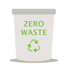 Modern recycle metal waste garbage bin vector