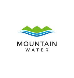 Mountain water fresh water healthy nature logo vector