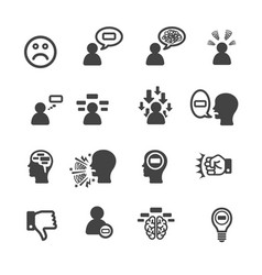 negative thinking icon vector image