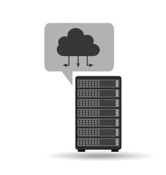 network server concept cloud connection vector image