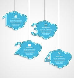 Numbered infographic design template in the form vector