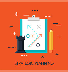 planning business strategy concept vector image