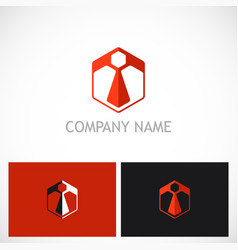 polygon business company logo vector image