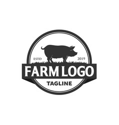 Pork logo designs vector