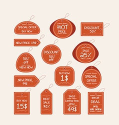 Price tag elements vector