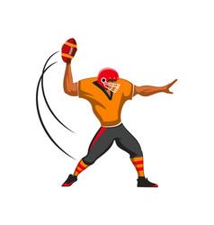 Quarterback player american football sport game vector