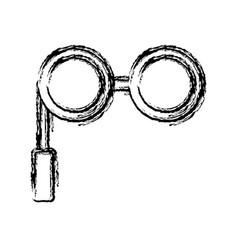 retro glasses icon vector image