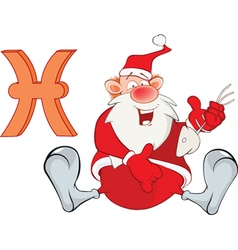 Santa Claus Astrological Sign in Zodiac Fish Pisce vector