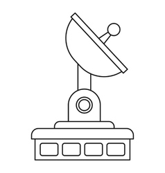 Satellite communication station icon outline style vector
