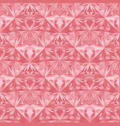 Seamless abstract polygonal floral mosaic pattern vector