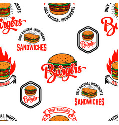seamless pattern with burgers design element for vector image