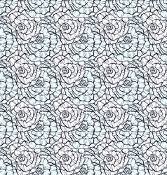 Seamless pattern with decorative hand drawn roses vector image