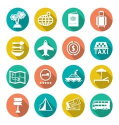 Set flat icons travel tourism vector