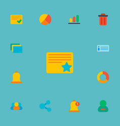 set of project icons flat style symbols with vector image