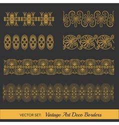 Set vintage borders - in art deco style vector