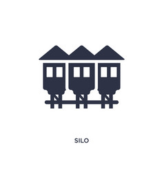 silo icon on white background simple element from vector image