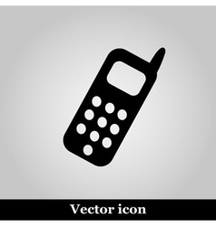 Smartphone icon on grey background vector image