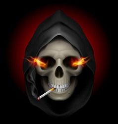 smoking kills Skull death 02 vector image