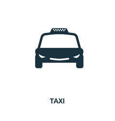 taxi icon in flat style icon design vector image