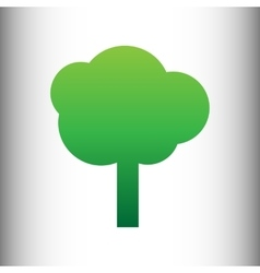 Tree sign Green gradient icon vector image