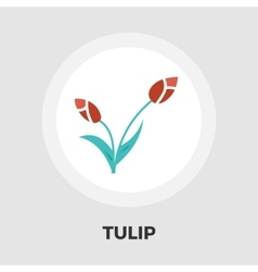 Tulip icon flat vector