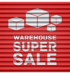Warehouse super sale design vector