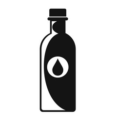 water bottle icon simple style vector image