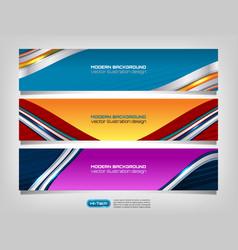 web banner header design vector image