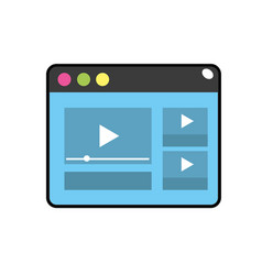 Website with important videos information vector