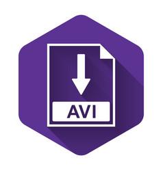 White avi file document icon download avi button vector