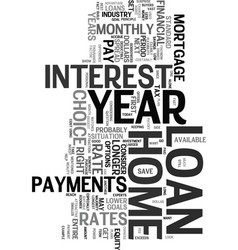 Year home loan text word cloud concept vector