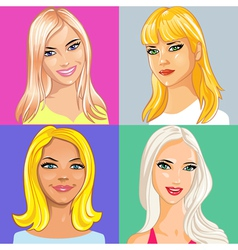 young beautiful blonde vector image