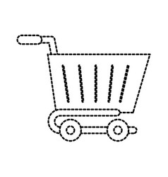 cart shopping online service order icon vector image
