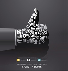 Elements are small icons Finance vector image