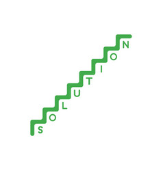 flat design style concept of stairs with vector image vector image